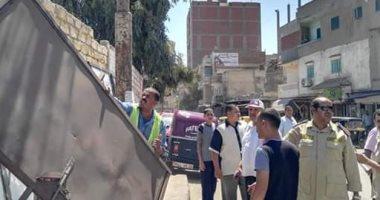 إزالة 547 حالة إشغال ثابت ومتحرك بشوارع الدلنجات بالبحيرة