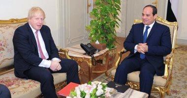 السفارة البريطانية تبرز مكالمة رئيس وزراء المملكة المتحدة والرئيس السيسي