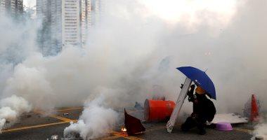 اشتباكات بين الشرطة والمتظاهرين فى هونج كونج