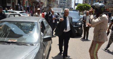 صور.. محافظ الدقهلية يسحب رخص السيارات المخالفة بشارع بورسعيد بالمنصورة
