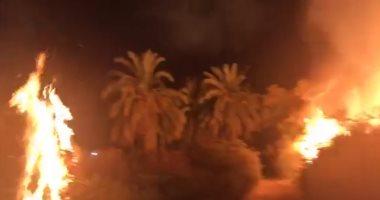 اندلاع حريق في مزرعة على مساحة 10 أفدنة بشرق العوينات في الوادي الجديد