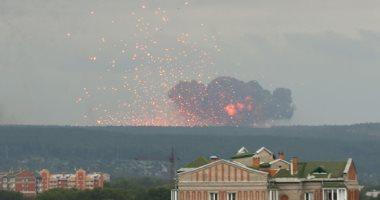 انفجارات ضخمة بعد حريق فى مستودع للذخيرة يضم 40 ألف طلقة مدفعية بروسيا