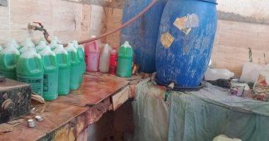 مباحث التموين بالمحلة تضبط مصنعا بدون ترخيص لغش مياه الردياتير