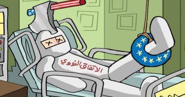 كاريكاتير الصحف الإماراتية .. الاتفاق النووى يدخل غرفة الإنعاش