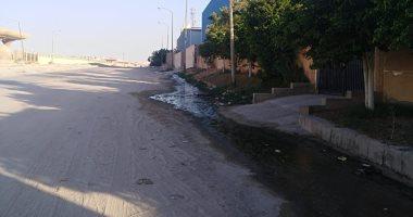 قارئ يشكو انتشار مياه الصرف الصحى فى المنطقة الصناعية السادسة