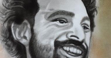 قارئ يشكر محمد صلاح لتبرعه لمعهد الأروام برسم صورته