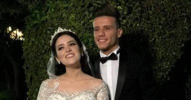 شاهد ..مصطفى فتحى فى حفل زفافه بالمنصورة