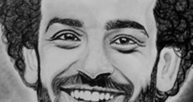 محمود يحول أحلامه إلى رسومات بالرصاص والفحم ونجمه المفضل محمد صلاح