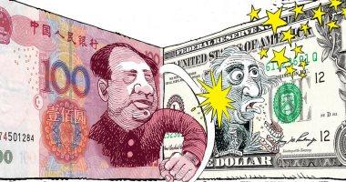اليوان الصينى يضرب الدولار.. كاريكاتير USA Today عن الحرب التجارية