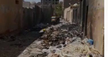 شكوى من تراكم القمامة فى مقابر الإمام الشافعى بحى الخليفة