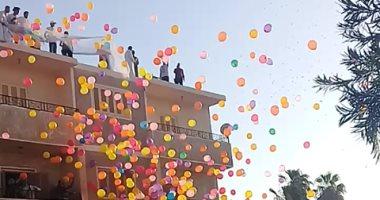 العيد فى الغردقة.. قارئ يشارك بصور باحتفالات أهالى المدينة بعد صلاة العيد