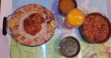 قارئ يشارك صورة طبق الفتة.. تقليد وطبق أساسى على مائدة الإفطار فى عيد الأضحى