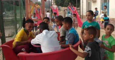 صور.. مراكز الشباب بالإسكندرية تستقبل الأطفال بالألعاب فى أول أيام العيد