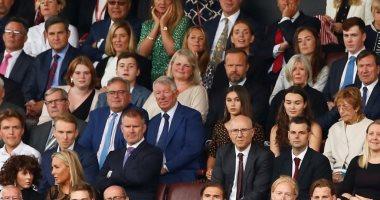 فيرجسون يدعم مانشستر يونايتد ضد تشيلسى من مقصورة أولد ترافورد.. صور