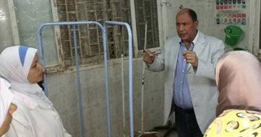 وكيل وزارة الصحة بالقليوبية يتفقد مستشفى شبين القناطر فى أول أيام عيد الأضحى
