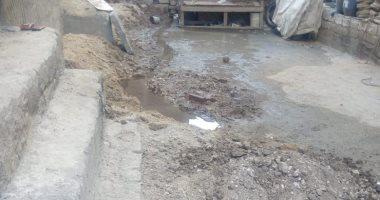 أهالى منطقة المرور بطهطا سوهاج يشكون من انتشار مياه الصرف الصحى