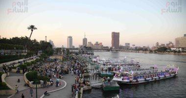 كورنيش النيل ملجأ المصريين للهروب من ارتفاع درجات الحرارة بعيد الأضحى