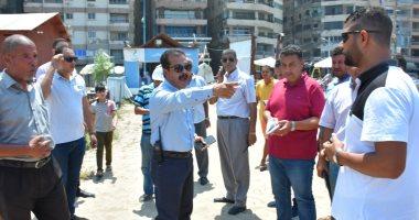تحرير مخالفات لمستأجرى 7 شواطئ بالإسكندرية فى ثانى أيام العيد -