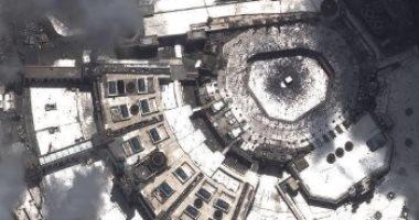 """""""الحجيج يلونون مكة بالأبيض"""".. شاهد المسجد الحرام ومنى من الفضاء (صور)"""