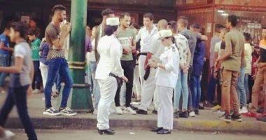 صور.. انتشار الشرطة النسائية أمام سينمات الإسكندرية لمكافحة التحرش