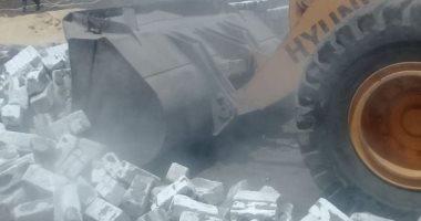صور.. إزالة 76 حالة تعد على الأراضى الزراعية ببنى سويف خلال عيد الأضحى