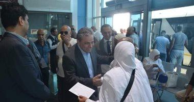وصول أفواج الحجاج الأولى بصالة المواسم بمطار القاهرة.. صور