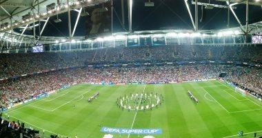 فيديو.. حفل افتتاح بسيط للسوبر الأوروبى بين ليفربول ضد تشيلسي