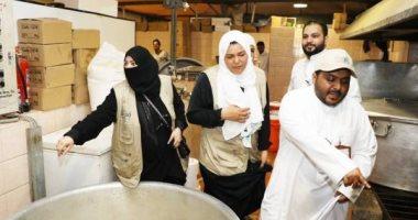 """صور.. لأول مرة فريق نسائى سعودى يشارك فى إدارة """"تفويج الحجاج لرمى الجمرات"""""""
