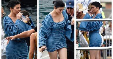 صور.. فستان كيلي جينر المثير للجدل في بورتوفينو سعره 144 جنيها إسترلينيًا