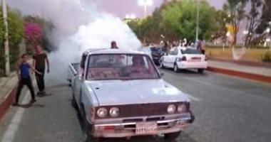 """صور.. """"صحة قنا"""" تطلق حملة لمكافحة الناموس والذباب من الشوارع والميادين العامة"""