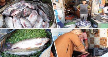 تعرف على أسعار الأسماك بسوق العبور الجملة اليوم السبت
