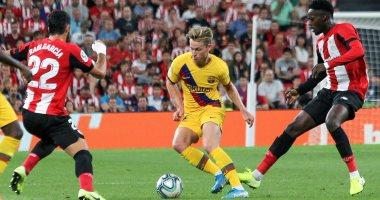 أتلتيك بيلباو ضد برشلونة.. تعادل سلبى فى الشوط الأول وإصابة سواريز