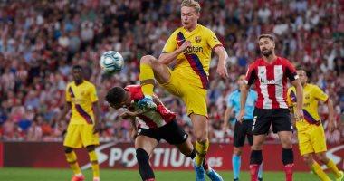 برشلونة يتلقى هزيمة قاتلة أمام بلباو بهدف خرافى فى انطلاق الليجا