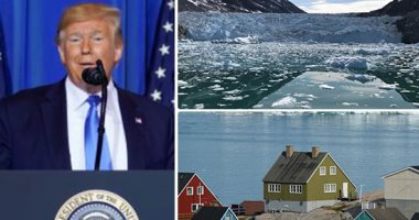"""جزيرة """"جرين لاند"""" كنز استراتيجى يغازل ترامب.. الرئيس الأمريكى أعلن نيته شرائها.. ذوبان الجليد يجعلها منطقة ثروات مستقبلية.. وساسة الدنمارك: كذبة إبريل لكن فى غير موعدها.. ونرحب بأى استثمارات وليس البيع"""