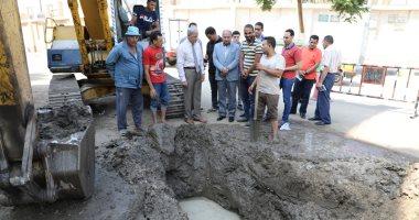 صور.. محافظ المنوفية يأمر بإصلاح ماسورة المياه بحى شرق بشبين الكوم
