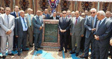 محافظ بنى سويف ورئيس قضايا الدولة يضعان حجر أساس مبنى فرع الهيئة
