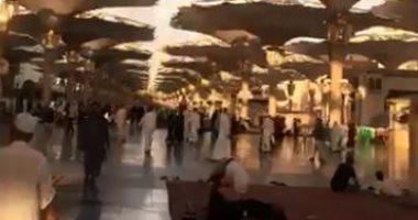شاهد.. حجاج بيت الله فى ضيافة المسجد النبوى