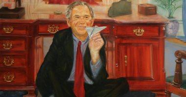 لوحة تسخر من جورج بوش فى منزل الملياردير الأمريكى المنتحر.. اعرف القصة