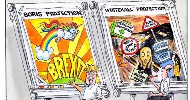 """كاريكاتير التايمز يرصد اختلاف وجهات النظر بين بريكست """"جونسون"""" وحكومته"""
