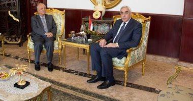 سفير العراق يبحث مع رئيس بعثة الجمهورية السورية فى القاهرة عمق العلاقات