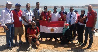 صور .. بعثة مصر تحتفل بميداليات التجديف الأربعة بالألعاب الإفريقية