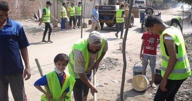 """""""ازرع شجرة"""" مبادرة شباب وأطفال قرية كفر مويس بمحافظة القليوبية"""