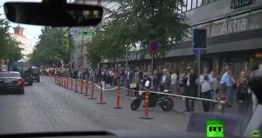 شاهد.. ترحيب سكان هلسنكى بالرئيس الروسى خلال زيارته فنلندا