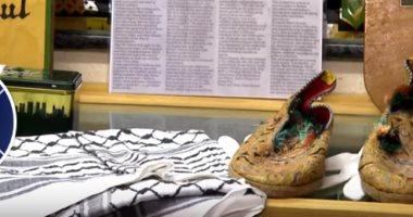 شاهد.. حذاء للزعيم الليبى الراحل معمر القذافى فى متحف بأيرلندا الشمالية