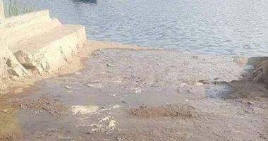 شكوى من صرف مياه الصرف الصحى فى النيل بمركز شربين بالدقهلية
