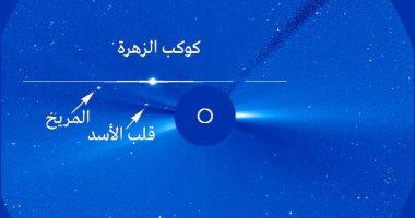 كوكب المريخ يقع بأقرب نقطة من الزهرة فى اقتران مذهل بالسماء غدًا