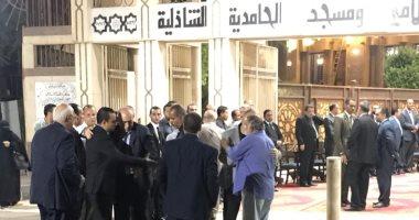 المحامين يشاركون فى عزاء نقيب شمال الجيزة بالحامدية الشاذلية