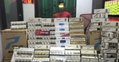القبض على صاحب مخزن بحوزته 6 آلاف علبة سجائر مهربة جمركيا فى باب الشعرية