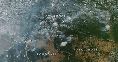 صور فضائية لناسا تكشف عن دخان حرائق غابات الأمازون المطيرة
