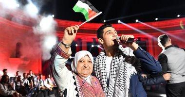"""""""أنا دمى فلسطينى"""".. محمد عساف يخطف قلوب أهله فى روابى"""